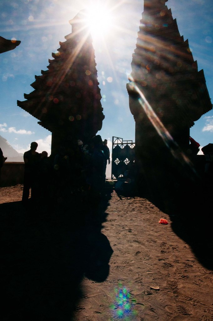 The Pura Luhur Poten temple at the base of Bromo is a Buddist / Hindu temple holy to the Tenggerese community.