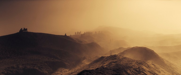 the pathway to Mt. Bromo