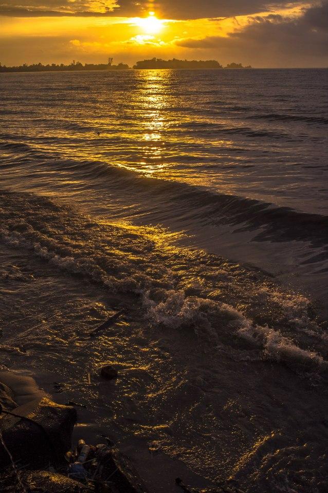 Golden sunset in Sipitang