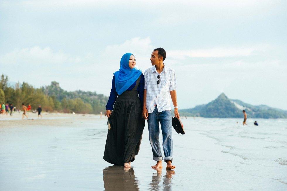 Strolling around Marintaman beach