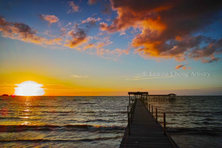 sipitang fisherman Jetty  one of the best spot in sipitang to enjoy  a spectacular sunset view in sipitang